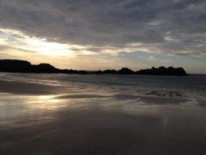 Der Strand auf Alderney - direkt an unserem Campingplatz!